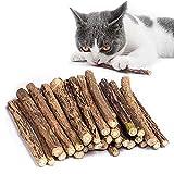 Kito Lee 30 Stück Katzenminze Sticks, Matatabi Katzen Kauhölzer, Matatabi-Kausticks als Katzenspielzeug, Katzenminze Sticks zum Schleifen von Zähnen, natürlich,Matatabi Zahnpflege
