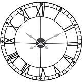 88 cm Design Wanduhr XXL 88 cm Metall Schwarz Quarz Uhr Jumbo Groß