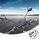 Fahrradspiegel, 2 Stück Fahrrad Rückspiegel, 360°Drehbar Lenkerspiegel Weitwinkelobjektiv, Universal Fahrradrückspiegel, Fahrradspiegel für für Fahrrad Motorrad E-Bike