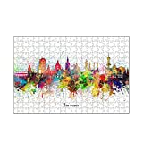 artboxONE-Puzzle M (266 Teile) Städte Hannover Skyline Artistic - Puzzle Hannover City Cityscap