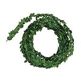 Rayher 5107300 Buchs-Girlande, Rolle 5 m, ca. 1 cm ø, künstliche Mini-Buchsgirlande aus biegsamem Draht, kleine filigrane Blätter, für Dekorationen, Hochzeit,