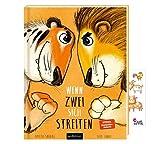 Wenn Zwei Sich streiten: Tiger und Löwe + Tiersticker, Vorlesebuch für Kinder ab 3 Jahren