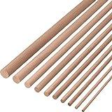 Gedotec Buchenrundstab 12 mm Bastelstäbe glatt aus BUCHE | Länge der Rundstäbe 1000 mm | stabile & hochwertige Holzstäbe aus Buchenholz | Made IN Germany | 10 Stück - Rundhölzer zum Basteln & G