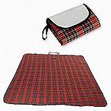 WYH komfortabel Camping Decke Picknick-Matte Strandmatte faltbaren Strand-Matten-Zelt-Pad Tragbares 180 × 150cm Sanft (Color : Red)