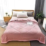Chickwin Tagesdecke Bettüberwurf Gesteppt, Nordisch Plaid Mikrofaser Tagesdecke Schlafzimmer Steppdecke Decke Überwurf Wohnzimmer Sofaüberwurf für Einzelbett Doppelbett (Rosa,180x220cm)