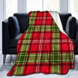 Bunte Weihnachten Tartan Plaid Micro Fleece Decke Superweiche leichte faltenresistente Tagesdecken die ganze Saison für Home Office Reisen