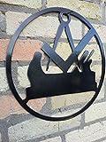 Metall-Design-Dithmarschen Zunftzeichen der Tischler aus 3mm Stahl mit den Maßen 30cm - 90cm (60cm)