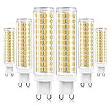 ALASON G9 LED-Lampe Dimmbar 15W Entspricht 120W 150W Halogenlampen, G9 LED-Lampe Warmweiß 2700K, LED G9-Lampen Licht, G9-Sockel LED-Lampe, Kein Flimmern, 1000LM, AC220-240V, 6er Pack