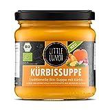 Little Lunch Bio Suppe Kürbis | 350ml | 100% Bio-Qualität | Vegetarisch | Ohne zugesetzten Zucker | Glutenfrei | Keine künstlichen Zusätze | Ohne Geschmacksverstärk