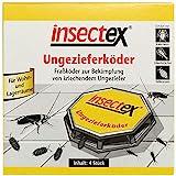 insectex 3019902004 Ungezieferköder - Ungeziefer Köderfalle - Schädlingsbekämpfungsmittel - Fertigkö