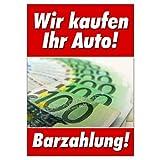 net-xpress Werbeplakat für Auto-Ankauf für Autohaus DIN A1, Plakat Poster Gebrauchtwagen