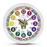 Cander Berlin MNU 1130 Kinderwanduhr (Ø) 30,5 cm Kinder Wanduhr mit lautlosem Uhrwerk und farbenfrohem Design Kinderzimmer Jungen Mädchen