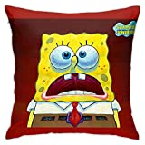 Sponge Bob Kissenbezug 45x45 cm Superweicher Premium Kopfkissenbezug Kissenhülle