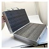 Werkzeugkasten Aluminium Werkzeugkoffer Koffer File Box Aufprallfest Schutzausrüstung Kamera Box Instrumentenkoffer mit vorgeschnittenem Schaumstoff-Werkzeug-Organisatoren Box Metall
