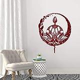 Lotus Flower Wandtattoo. Mandala Aufkleber. Yoga Studio Dekoration. Böhmische Meditation Wandkunst. Blumenbilder A2 57x70cm