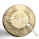 SEOCOM Rhythm Percussion-Instrument,Gong,Tischgong,Klangschale Schule,toller Klang, Inklusiv Holz-/Baumwollklöppel