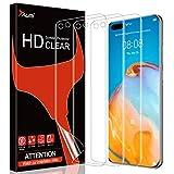 TAURI 3 Stück Schutzfolie Kompatibel Mit Huawei P40 Pro Displayschutzfolie Fingerabdruck-ID unterstützen Blasenfreie Klar HD Weich TPU Folie