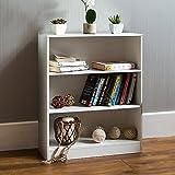 Vida Designs Cambridge, 3Ebenen, Bücherregal, Regal, Holz, Weiß, Schrank, Büro, Wohnzimmer