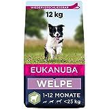 Eukanuba Welpenfutter mit Lamm & Reis für kleine und mittelgroße Rassen - Trockenfutter für Junior Hunde, 12 kg