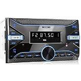 XOMAX XM-2R423 Autoradio mit Bluetooth I RDS I AM, FM I USB, AUX I 7 Beleuchtungsfarben einstellbar I 2 DIN