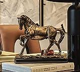 WOREX-Skulptur Pferdeskulptur Kreative Wohnskulptur Harz Handwerk Dekoration Schrankeinrichtung Souvenir,AC