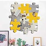 Filz-Pinnwand aus Kork, Set von Wand, Puzzle-Form, Pinnwand aus EVA-Kunststoff, selbstklebend, um Fotos Memos Display Board Pads Bilder Zeichnen Ziele Notizen bunte Schaumstoffwand dek