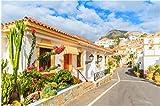 DIY Jigsaw Puzzle Street Mit Typisch Kanarischen Ferienwohnungen In Costa Adeje, Teneriffa, Kanarische Inseln, Spanien, Inneneinrichtung Für Erwachsene Kinder, 1000 Teile