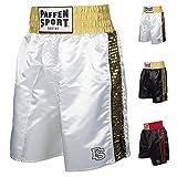 Paffen Sport PRO Glory Profi-Boxerhose – weiß/Gold – Größe: XXL