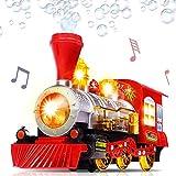 Dampfzug Lokomotive Auto Blase Blasen Bump & Go Batteriebetriebene Spielzeugeisenbahn mit Lichtern und Geräuschen, Blase Blasen Spielzeugeisenbahn, Batteriebetriebene Dampfblasen Lokomotive Auto