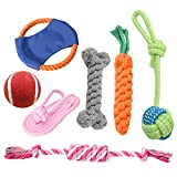 DUTISON Hundespielzeug, 7 Pcs Intelligenz Welpenspielzeug Set, Interaktives Baumwollknoten Spielsachen für Welpen oder Kleinere Hunde Geeig