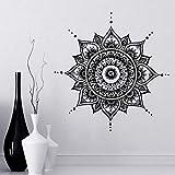 Mandala Aufkleber Mehndi Aufkleber Schlafzimmer Wandtattoo Lotus Blume Boho Indisches Dekor Yoga Buddha Aufkleber Wasserdicht A4 57x57