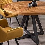 Lowry Esstisch mit 4 Sitzplätzen aus rustikaler Eiche mit Pfefferkorn-B
