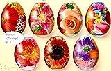 ukrainisches-kunsthandwerk Ostereier Schrumpffolie. Blumen Neu Orange. Nr.27 reicht für 7 E