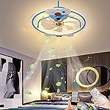 LED Fan Deckenleuchte mit Fernbedienung und APP Fan Licht Ultra-Leise Dimmbar Deckenventilator 50W Moderne Kreativität Junge Mädchen Ventilator Deckenlampe für Schlafzimmer Wohnzimmer 3-Gang