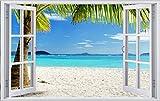 Palmen Strand Beach Meer Urlaub Wandtattoo Wandsticker Wandaufkleber F0333 Größe 40 cm x 60 cm