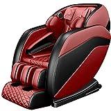 QQ HAO Massagestuhl Ganzkörper Zero Gravity Shiatsu-Massage-Recliner Mit Bluetooth-Wärmeheizrolle,Rot