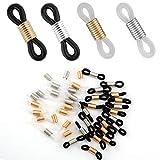 LUTER 40 Stück Verstellbare Brillenkettenenden, Lange Verstellbare Riemenhalter Kettenenden Verbinder für Brillenhalter Halskette Kettenriemen