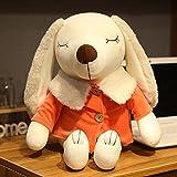 Mhtop 30/45 / 60cm Ultra Soft Lovely Pudel Plüschpuppe Huggable Orange/Blau Gefülltes Hundespielzeug Kids Huggable Animals Plüschtier
