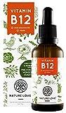 NATURE LOVE® Vitamin B12 Tropfen Vegan (1700 Tropfen, 50ml flüssig). B12 duo-aktiv: Methyl- & Adenosylcobalamin. Hoch bioverfügbar, laborgeprüft, ohne Zusätze, in Deutschland produziert