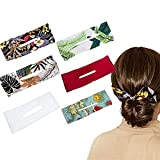 Deft Bun for Hair for Girls, Classy Multicolor Cloth Magic Clip, French Twist Hairstyle Donut Bun Former Maker Hairstyle Must-haves Tool for Girls Women, Reusable Bun Twister (6PCS)