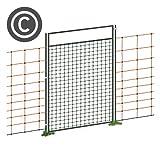 VOSS.farming Tür für Netze, Weidezaun Netz Tür, für Netze über 95cm Höhe, 86cm Öffnungsb