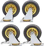 YANJ Hochleistungs-Industrierasträder 360 (Color : Brake+universal, Size : 125mm)