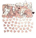 Amscan 9903474 - Konfetti Herzen, roségold, Folie, 14 g, Streudeko, Tischdekoration, Valentinstag, Hochzeit, Geburtstag