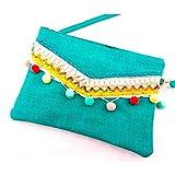 L&R SHOES 8742 Damen-Handtasche, synthetisch, für: Damen, Farbe: Türkis, Größe: Einheitsgröße