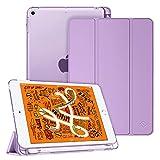 Fintie Hülle mit Pencil Halter für iPad Mini 5 2019 - Ultradünne Superleicht Schutzhülle mit transparenter Rückseite Abdeckung mit Auto Schlaf/Wach für 2019 iPad Mini (5. Generation), Lavendel