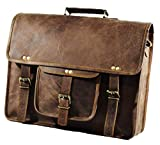Jony Vintage Vintage Laptop Messenger Bag Aktentasche Umhängetasche Laptoptasche für Damen und Herren (H 12 x L 16 x B 4)