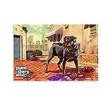 DRAGON VINES Poster Grand Theft Auto V Game GTA 5 Hunde-Dekoration, 60 x 90 cm