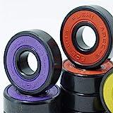 Newest 16 STÜCKE ABEC9 608 2RS Inline Roller Skate Radlager 608 RS Anti Rost Skateboard Kugellager 608Rs rot versiegelt 8x22x7 mm Wellenlager ( Inner Diameter : 608RS RED , Number of Pcs : 16pcs )
