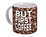 Aber zuerst Kaffee : Geschenk Becher : Cafe Latte Cappuccino Cup Körner