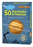 Moses 9740 Expedition Natur - 50 Sternbilder und Planeten| Bestimmungskarten im Set | Mit spannenden Quizfrag